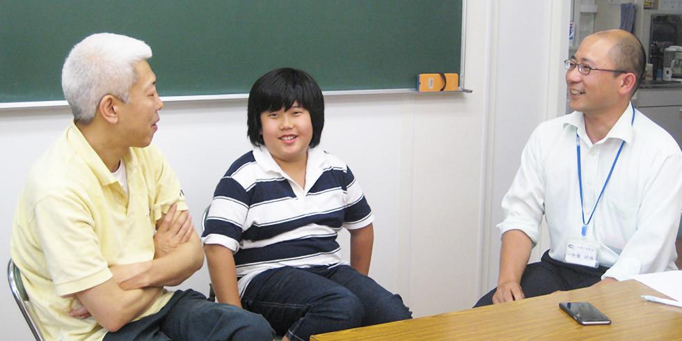 小学生から高校生が自然に会話ができる環境が勉強だけではない、田島の魅力